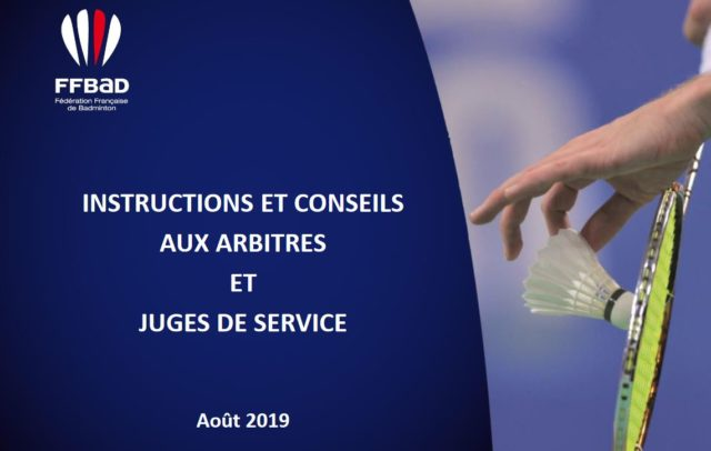 MAJ des instructions arbitrales